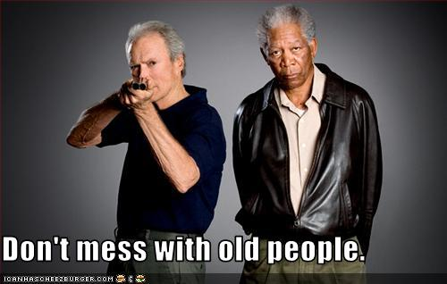 Old people today - Clint Eastwoord and Morgan Freeman
