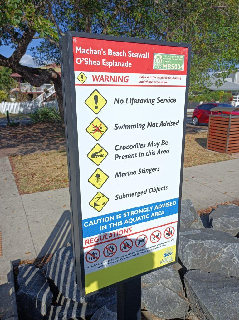 machens beach sign