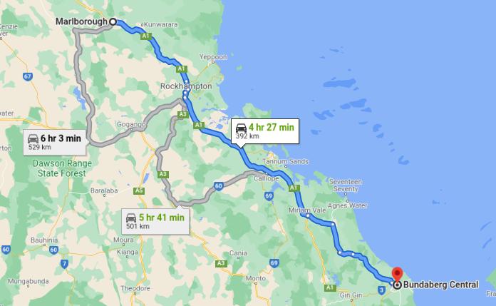 Marlborough to Bundaberg