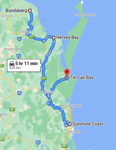 Bundaberg to Sunshine Coast